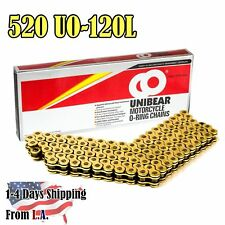 520 Gold Motorcycle O-Ring  Chain 120 Links with 1 Connecting Link