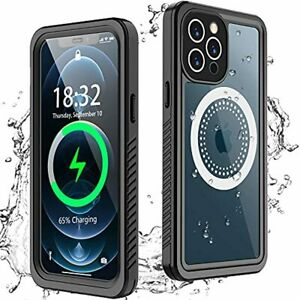 iPhone 12 Pro Max Case Waterproof Builtin Screen Protector Full Body Tough Cover