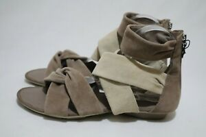GEOX RESPIRA Size 8 Womens Leather Suede Straps Open Toes Flat Sandals