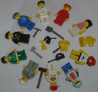 LEGO 10 Minifig minifigures con accessori y City Town