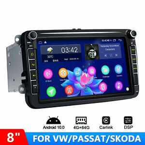 For VW SEAT SKODA Android 10 CarPlay Head Unit 8 Inch IPS Touchscreen Car GPS