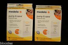 Medela Pump & Save Breastmilk Bags LOT of 100 NEW