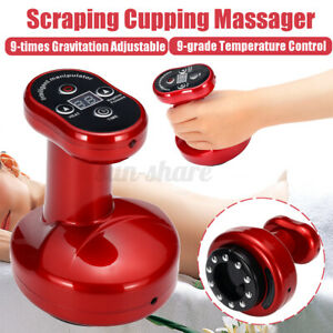 Electric Cupping Massage 9-Grade Scraping Massager Therapy Body Slim Machine US