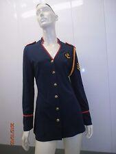 Naughty nautical dress sexy COSTUME hot red white blue captain navy military