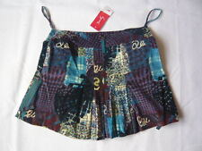 Rene Derhy blue skirt with multicoloured motifs UK size L Free Postage