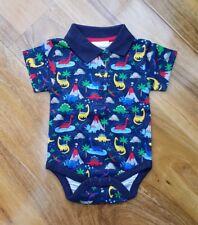 e18bfb1a9888 Jojo Maman Bebe Baby Boys Poloshirt Printed Bodysuit RRP £12 03-24 months  NEW