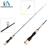 Maxcatch Ice Fishing Rod/Pole 26''/28''/30''/32'' Solidcarbon Tip Cork Handle