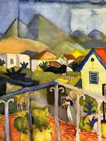 AUGUST MACKE ST GERMAIN AT TUNIS OLD MASTER ART PAINTING PRINT POSTER 313OMA