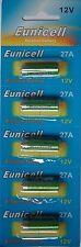 EUNICELL 5 Piles Alcaline 12V A27 27A  Alkaline Mn27 Gp27a L828 El812