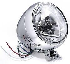 Scheinwerfer 4,5 Zoll Klarglas Chrom für Harley Honda Suzuki Yamaha Kawasaki HD