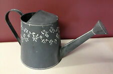 ZINC WATERING CAN with floral motif 22 cm high