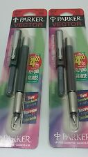 Two Parker Vector Traslucent Fountain Pens, New Old Stock