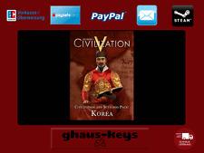 Civilization V - Civilization and Scenario Pack Korea Steam Key Pc Game Code Neu