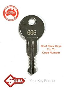 Replacement Rhino & Thule Roof Rack & Pod Lock Keys Cut To Code Number-FREE POST