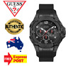 GUESS GENESIS W1254G2 BLACK/SILICONE BAND QUARTZ CHRONO MENS WATCH NEW IN BOX