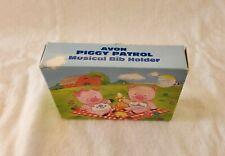 Vintage Avon Piggy Patrol Musical Bib Holder - New in Box
