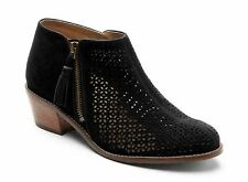 VIONIC Women's JOY DAYTONA Perforated Suede Ankle Boots BLACK Sz. 7.5 M  NIB