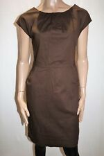 odel Brand Brown Pleated Neckline Office Dress Size L BNWT #TQ96