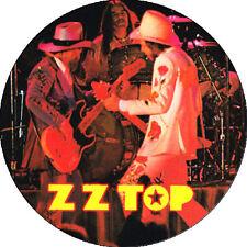 CHAPA/BADGE ZZ TOP . pin button billy gibbons dusty hill frank beard hendrix