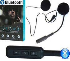 MICROFONO AURICOLARI BLUETOOTH PER CASCO MOTO SCOOTER ENDURO CHIAMATE MP3