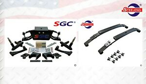 "SGC 6"" A-Arm Lift Kit for Club Car DS Golf Cart 1982-2003 / HD Rear Leaf Springs"
