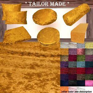 Mv05 O-Gold Crush Velvet Sofa Seat Patio Bench Box Cushion Bolster Cover/Runner
