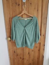 Fat Face Seafoam Green Cardigan Size 12 Cotton