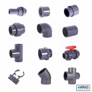 """Imperial PVC Pressure Pipe & Fittings. Plain & BSP Threads. 1/2"""" to 2"""". WRAS"""