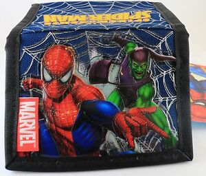 Marvel Comics Spider-man and Green Goblin Tri-fold Black and Blue Kids Wallet