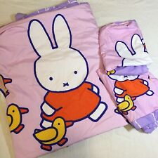 Purple Pink Miffy Full Size Duvet Cover 2 Pillowcases Cottex