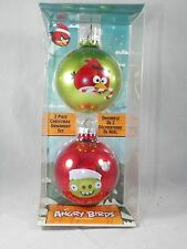 Angry Bird and Pig Jolly Christmas Ball Set Christmas Tree Ornament new holiday
