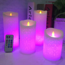 LED Candle Night Lamp Dancing Flame Wax Pillar Candle Remote Control
