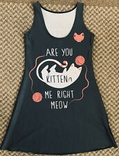 Living Dead Clothing A-Line Kitten Me Right Meow Dress Cat Size Small S