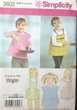 Sewing Pattern Apron Pinafore 3 4 5 6 7 8 Child Pockets Variations Uncut S3802