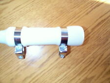 WHIP HOLDER IN WHITE WOOD, STAINLESS STEEL BANDS, SCREWS TO ATTACH INCLUDED