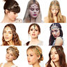 Fashion Women Boho Head Chain Jewelry Metal Rhinestone Headband Piece Hair Band