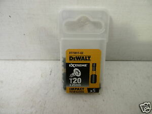 DEWALT EXTREME DT7381T 5 X TORX T20 HIGH IMPACT TORSION SCREWDRIVER BITS X 25MM