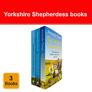 The Yorkshire Shepherdess Series 3 Books Collection Set by Amanda Owen NEW Pack