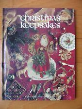 CHRISTMAS KEEPSAKE Craft  Book Leisure Arts Cross-Stitch Pattern Angels Santa
