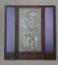 Pequeño Antiguo Chino De Seda Bordado A Mano Pantalla de Panel 3