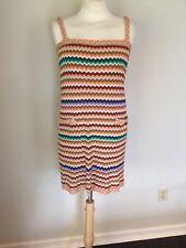 MISSONI ORANGE LABEL Multi-Colored Striped Shift Dress Sz IT 42 M