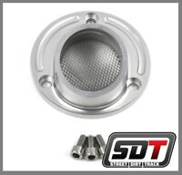 SDT 2007-2013 Yamaha Grizzly 700 FI Silver Power Exhaust Tip w/ Spark Arrestor