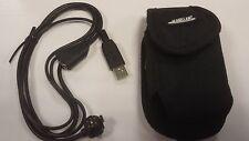 OEM Magellan eXplorist 210, 400, 500 & 600 USB Cable & Case (Belt Clip)  NEW