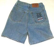 """VTG Zena Womens Size 9 Jean Shorts 12"""" High 28"""" Natural Waist  36"""" Hip Buttonfly"""