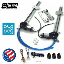 Ford Falcon 1960 - 1970 Power Window Regulator Kit w/ 3 LED Switches fomoco v8