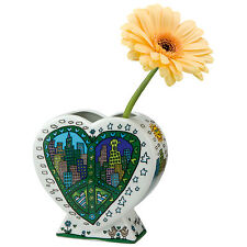 Goebel James Rizzi A peace of my World Vase Göbel  Kunst Pop Art ANGEBOT