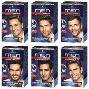 Schwarzkopf MEN PERFECT Anti Grey Hair Mens Natural Hair Color Gel Hair Dye
