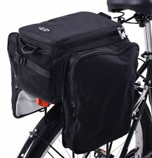 BIKE CARRIER RACK BAG + FOLDING PANNIER BAGS INSULATED BAG 28 LITRE SHOWER COVER