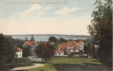 c.1910 View of Homes & Bay from Spencer Ave. East Greenwich RI post card