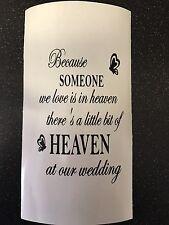 Because Someone We Love Is In Heaven/wedding Vinyl Lantern/Vase/Bottle Decal